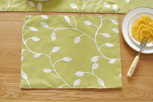New European Style Flowers Placemat Cotton Linen Printing Washable Dining Table Insulation Placemat