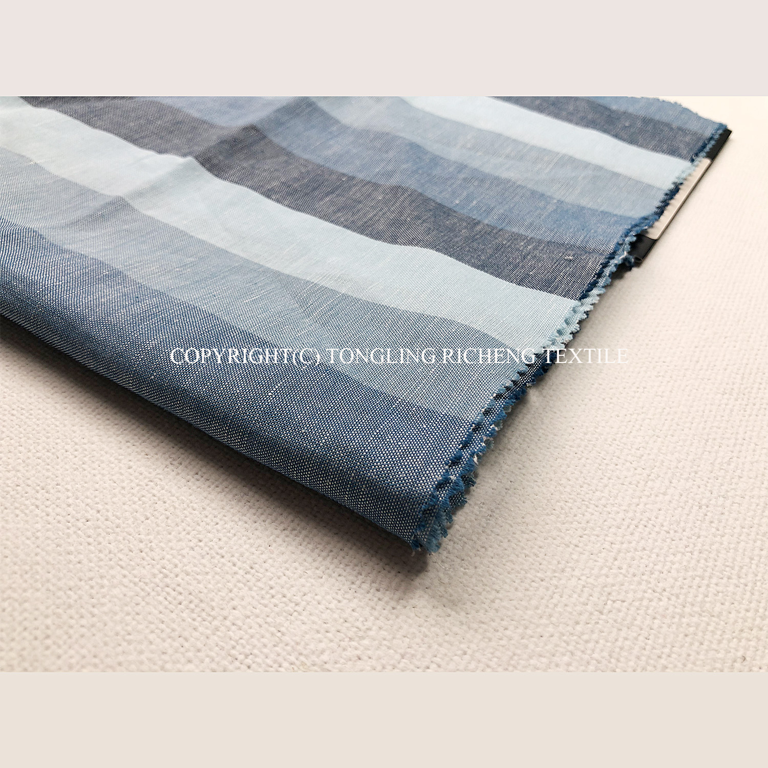 Yarn Dyed Linen Cotton Fabric for Men Shirts